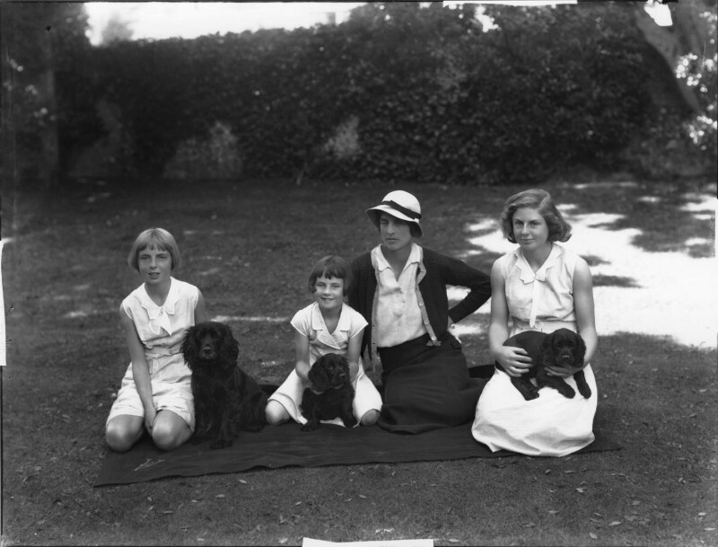 Four female members of the Asquith family., by Bassano Ltd, 26 June 1934 - NPG x34676 - © National Portrait Gallery, London