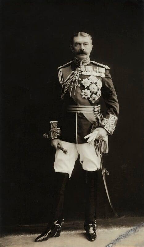 Herbert Kitchener, 1st Earl Kitchener, by Bassano Ltd, 29 July 1910 - NPG x35370 - © National Portrait Gallery, London