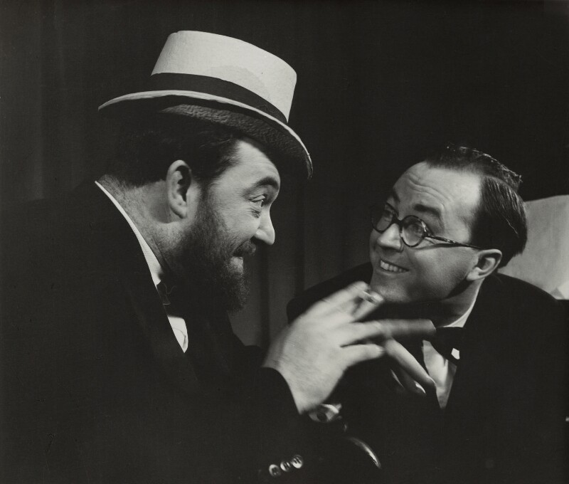 Flanders and Swann (Donald Ibrahim Swann and Michael Flanders), by (Edward) Russell Westwood, 1957 - NPG x35582 - © estate of Russell Westwood / National Portrait Gallery, London