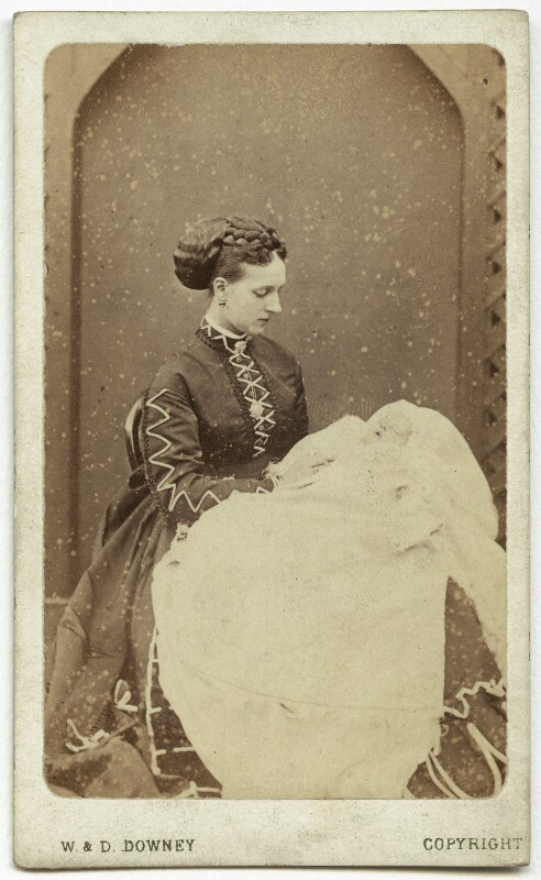 Queen Alexandra; Princess Victoria of Wales, by W. & D. Downey, Autumn 1868 - NPG x3602 - © National Portrait Gallery, London