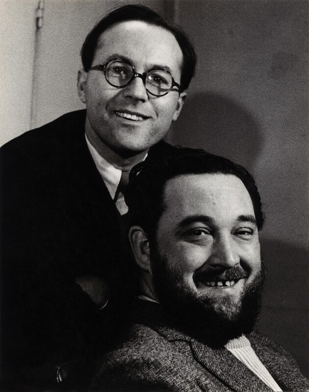 Flanders and Swann (Donald Ibrahim Swann and Michael Flanders), by Georges Maiteny, 1950s - NPG x36173 - © estate of Georges Maiteny