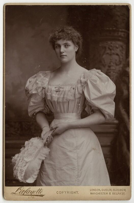 Lady Beatrice Frances Elizabeth Pole-Carew (née Butler), by Lafayette, 1890s - NPG x36207 - © National Portrait Gallery, London