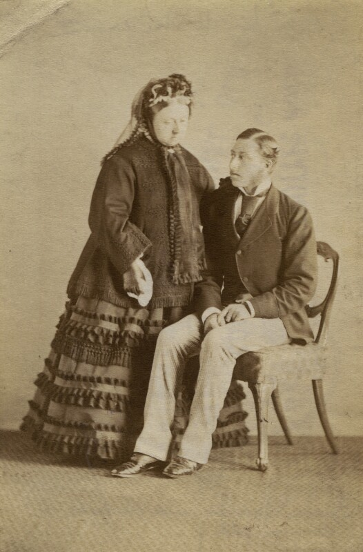 Queen Victoria; Prince Arthur, 1st Duke of Connaught and Strathearn, printed by Hughes & Mullins, (1860s) - NPG x36268 - © National Portrait Gallery, London