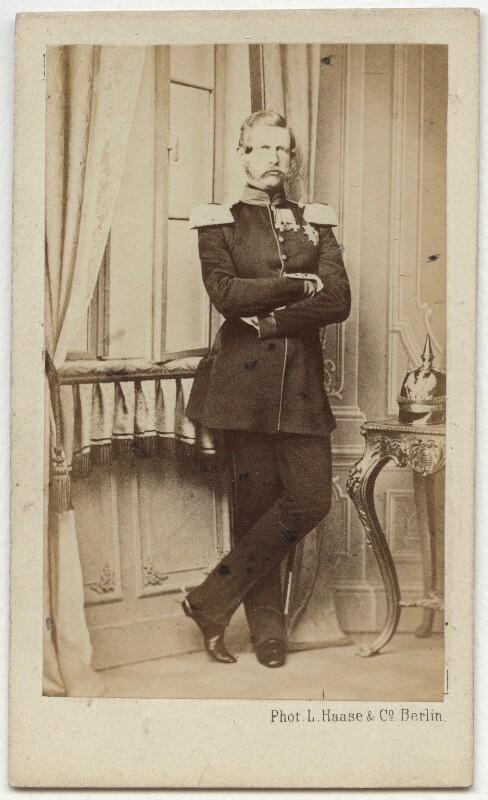 Frederick III, Emperor of Germany and King of Prussia, by L. Haase & Co, early 1860s - NPG x36373 - © National Portrait Gallery, London