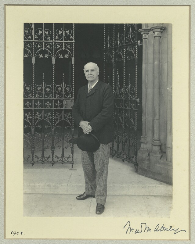 Sir William De Wive-Leslie Abney, by Sir (John) Benjamin Stone, 1901 - NPG x36462 - © National Portrait Gallery, London