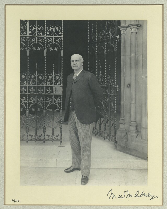 Sir William De Wive-Leslie Abney, by Sir (John) Benjamin Stone, 1901 - NPG x36463 - © National Portrait Gallery, London