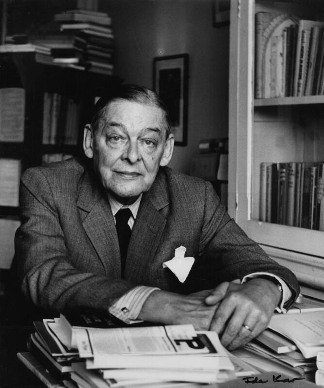 T.S. Eliot, by Ida Kar, circa 1959 - NPG x88529 - © National Portrait Gallery, London