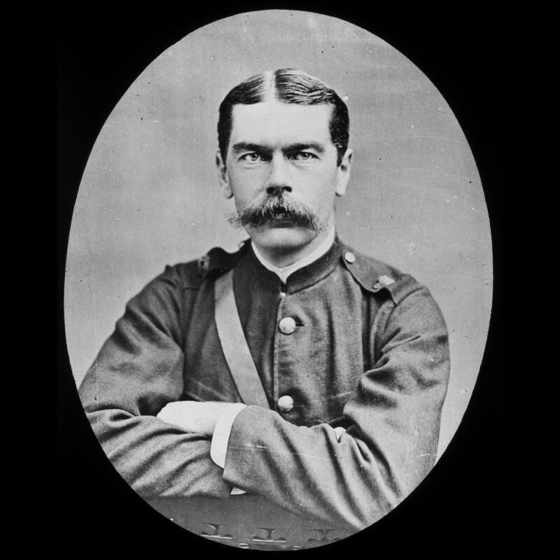 Herbert Kitchener, 1st Earl Kitchener, by York & Son, after  Elliott & Fry, 1890s (circa 1885) - NPG x3675 - © National Portrait Gallery, London