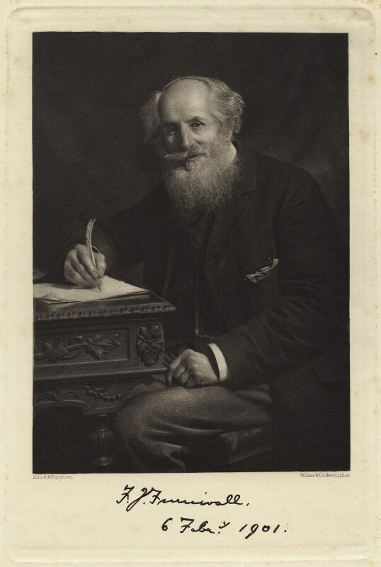 Frederick James Furnivall, by Elliott & Fry, printed and published by  Walker & Cockerell, circa 1900 - NPG x3692 - © National Portrait Gallery, London