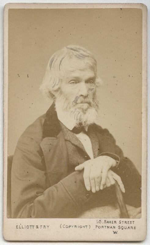 Thomas Carlyle, by Elliott & Fry, 1860s-1870s - NPG x3695 - © National Portrait Gallery, London