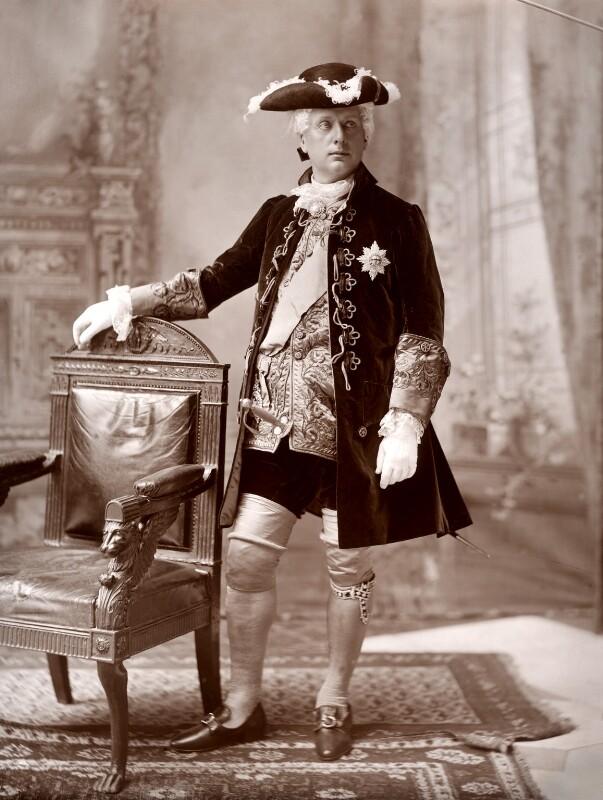 Archibald Philip Primrose, 5th Earl of Rosebery as a gentleman of the XVIIIth Century, by Lafayette (Lafayette Ltd), 20 August 1897 - NPG x88530 - © National Portrait Gallery, London