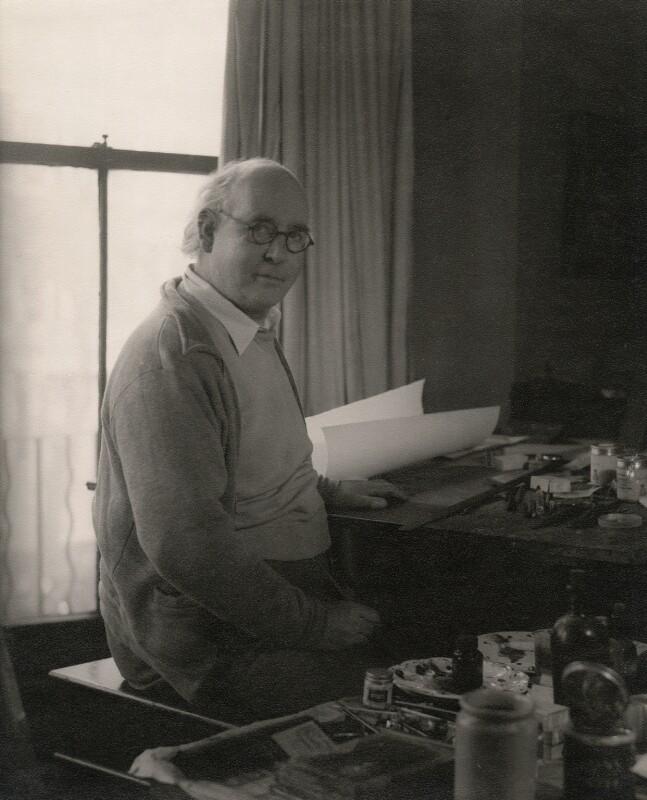 Edward Ardizzone, by Howard Coster, 1954 - NPG x45739 - © National Portrait Gallery, London