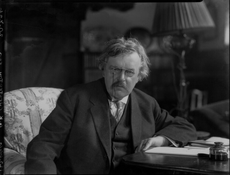 G.K. Chesterton, by Lafayette, 20 July 1926 - NPG x37030 - © National Portrait Gallery, London