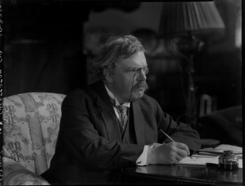 G.K. Chesterton, by Lafayette, 20 July 1926 - NPG x37031 - © National Portrait Gallery, London
