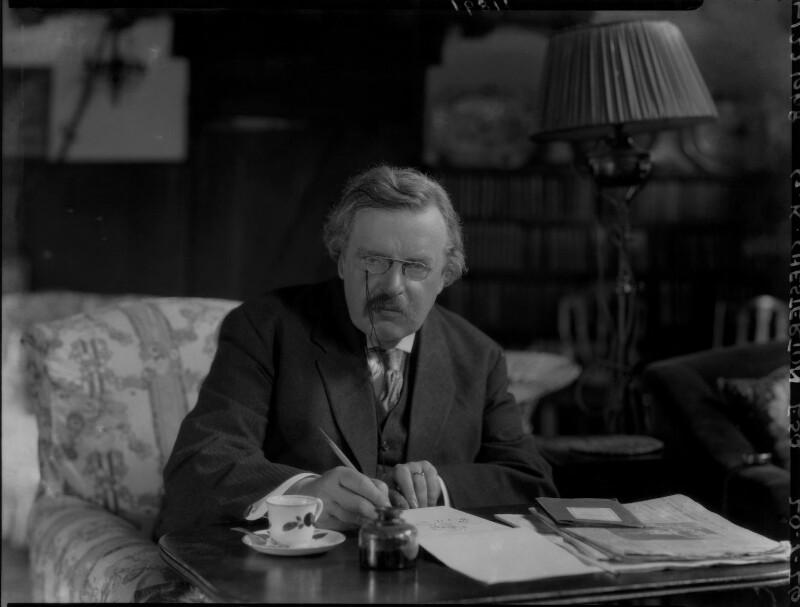 G.K. Chesterton, by Lafayette, 20 July 1926 - NPG x37032 - © National Portrait Gallery, London