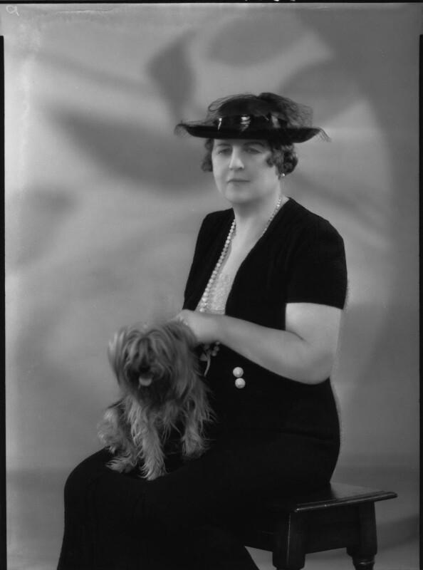 Constance Sibell Ashley-Cooper (née Grosvenor), Countess of Shaftesbury, by Harry Hammond, for  Bassano Ltd, 8 June 1939 - NPG x37497 - © National Portrait Gallery, London