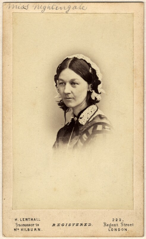 Florence Nightingale, by William Edward Kilburn, (circa 1856) - NPG x46634 - © National Portrait Gallery, London
