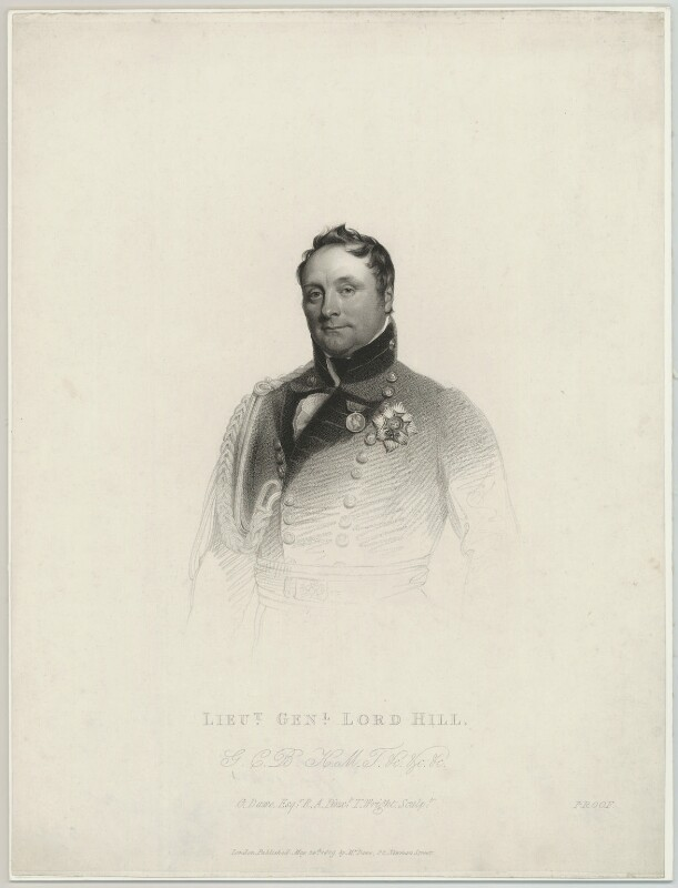 Rowland Hill, 1st Viscount Hill, by Thomas Wright, published by and after  George Dawe, published 24 May 1819 - NPG D10679 - © National Portrait Gallery, London
