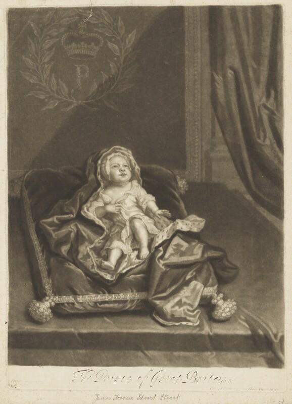 Prince James Francis Edward Stuart, by John Smith, after  Sir Godfrey Kneller, Bt, 1688 - NPG D10697 - © National Portrait Gallery, London