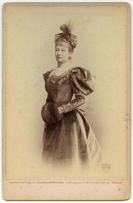Augusta Victoria, Empress of Germany and Queen of Prussia, by Julius Cornelius Schaarwächter, 1895 - NPG x3811 - © National Portrait Gallery, London