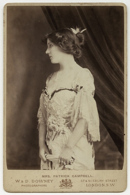 Mrs Patrick Campbell, by W. & D. Downey, 1890s - NPG x38842 - © National Portrait Gallery, London