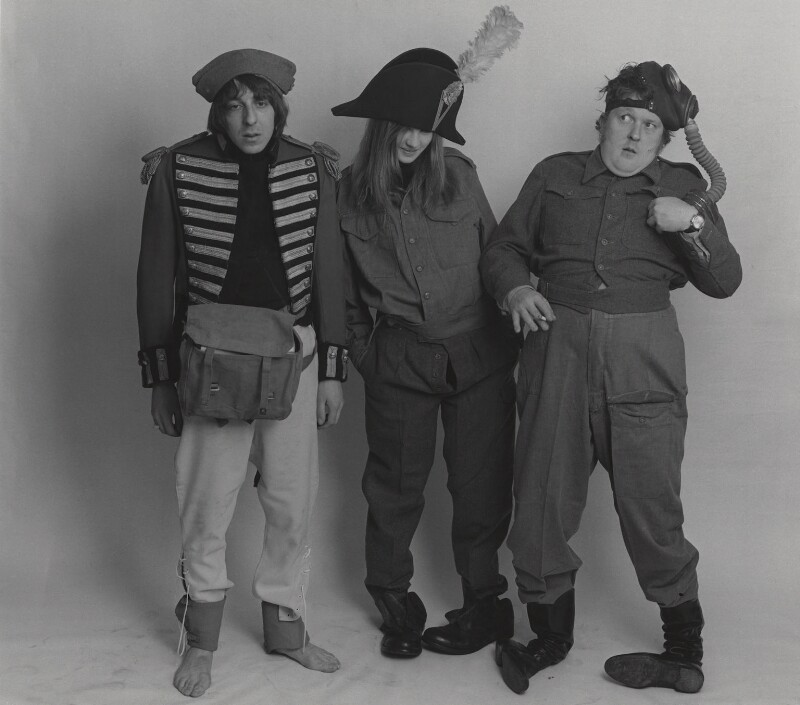 Diana Clarke; Barry Fantoni; Willie Rushton, by Lewis Morley, published 31 March 1967 - NPG x38948 - © Lewis Morley Archive