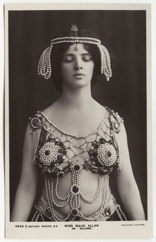 Maud Allan as Salome in 'The Vision of Salome', by Foulsham & Banfield, circa 1908 - NPG x39 - © National Portrait Gallery, London