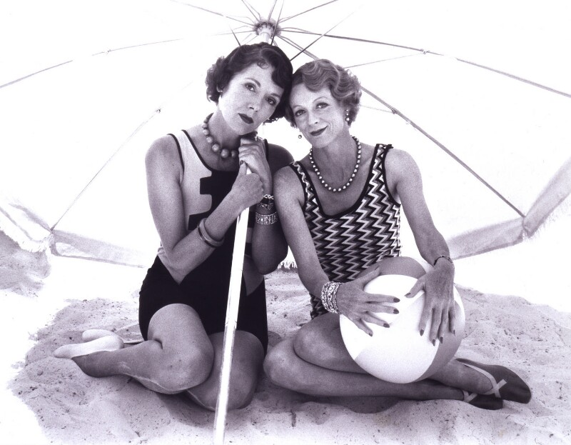 Diana Rigg; Maggie Smith, by Bob Penn, 1981 - NPG x34554 - © estate of Bob Penn