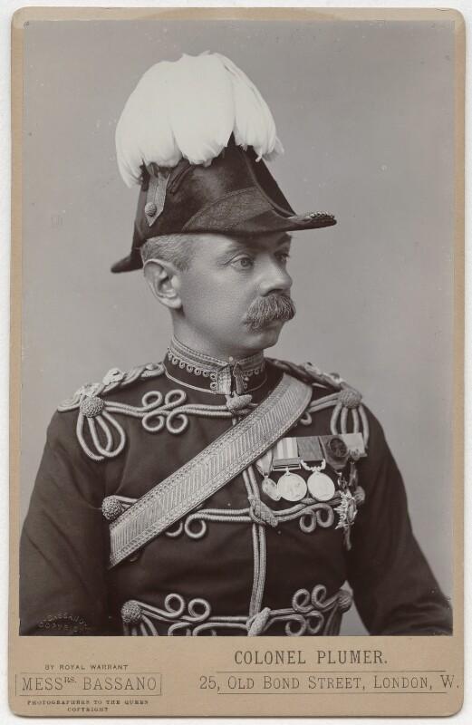 Herbert Plumer, 1st Viscount Plumer, by Alexander Bassano, 1899 - NPG x39341 - © National Portrait Gallery, London