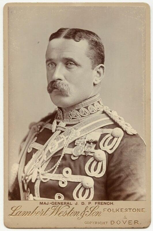 John Denton Pinkstone French, 1st Earl of Ypres, by Sidney Cooper Weston, for  Lambert Weston & Son, 1890s - NPG x39349 - © National Portrait Gallery, London