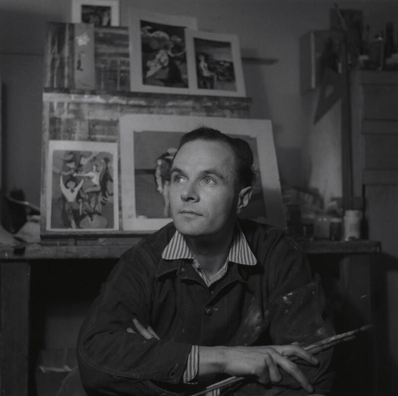 Keith Vaughan, by Francis Goodman, 16 January 1947 - NPG x39553 - © National Portrait Gallery, London
