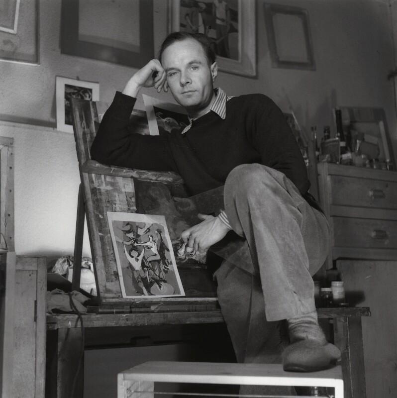 Keith Vaughan, by Francis Goodman, 16 January 1947 - NPG x39560 - © National Portrait Gallery, London