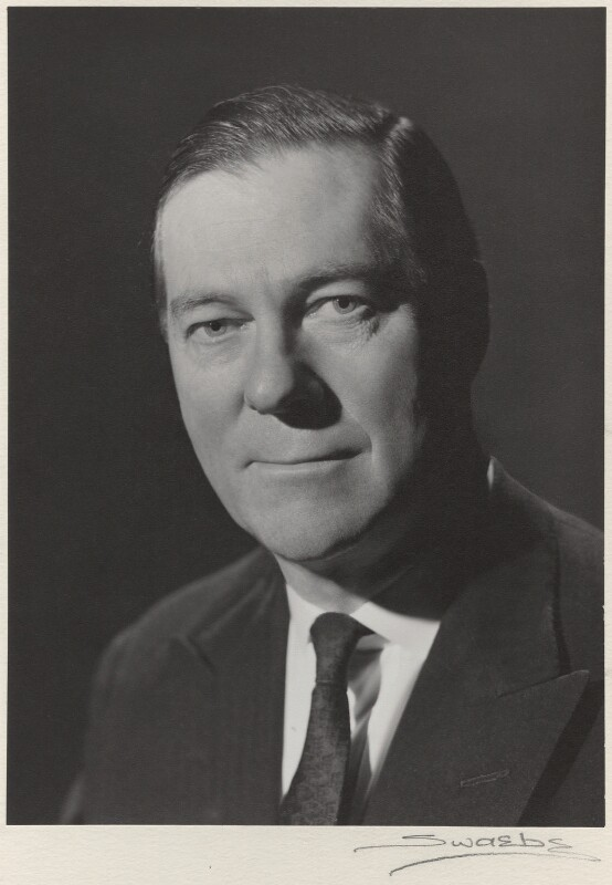 Charles Melville McLaren, 3rd Baron Aberconway, by Albert Victor Swaebe, circa 1969 - NPG x4 - © reserved; collection National Portrait Gallery, London
