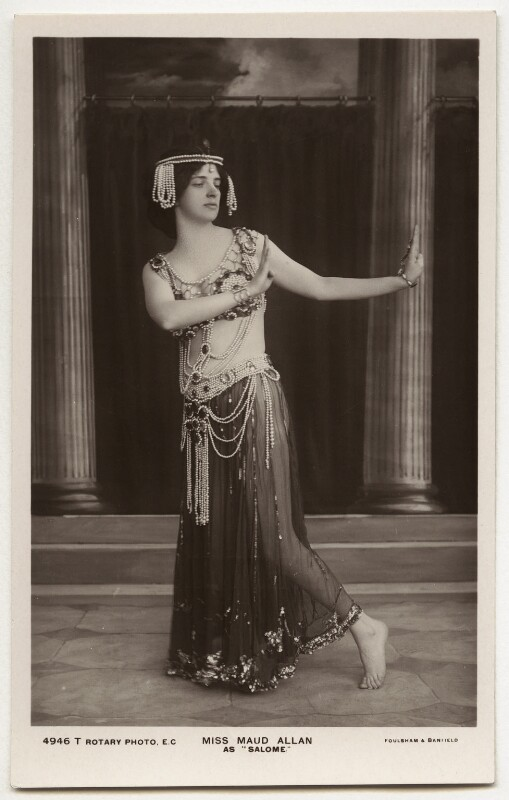 Maud Allan as Salome in 'The Vision of Salome', by Foulsham & Banfield, 1908 - NPG x40 - © National Portrait Gallery, London
