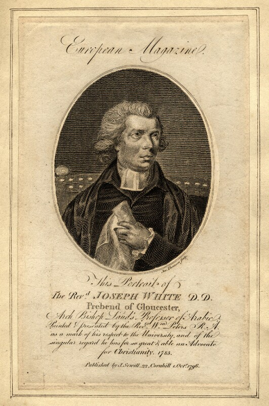 Joseph White, by James Thomson (Thompson), after  Matthew William Peters, published 1796 - NPG D10740 - © National Portrait Gallery, London