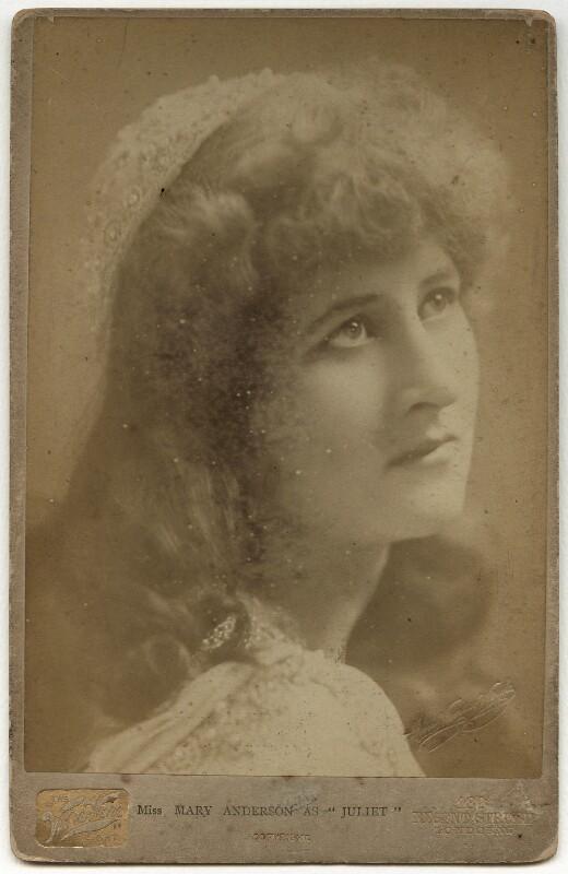 Mary Anderson (Mrs de Navarro) as Juliet in 'Romeo & Juliet', by Henry Van der Weyde, 1884 - NPG x4184 - © National Portrait Gallery, London