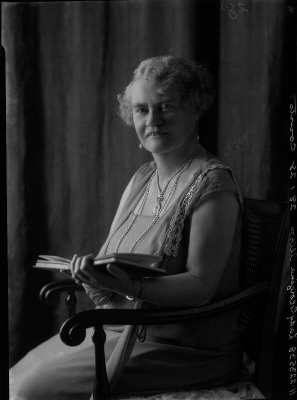 (Sarah) Georgina (née Campbell), Lady Alison, by Lafayette (Lafayette Ltd), 28 January 1928 - NPG x42286 - © National Portrait Gallery, London