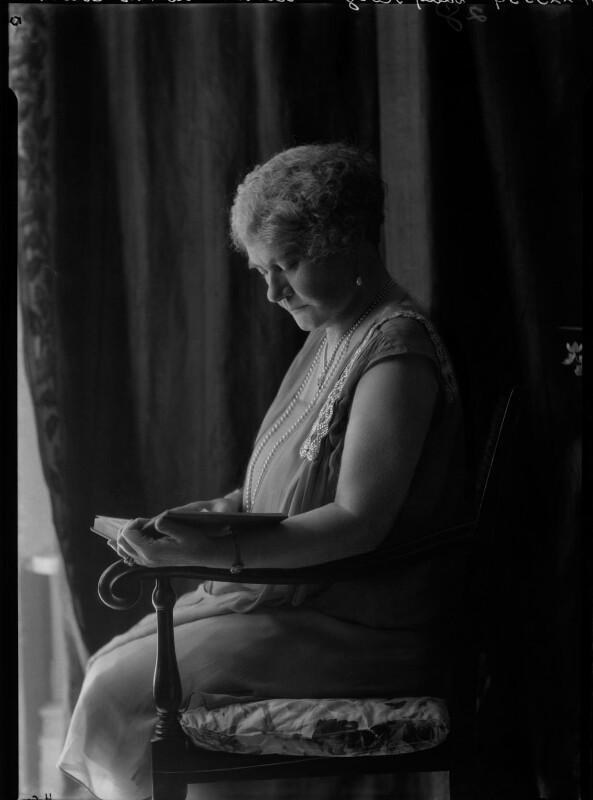 (Sarah) Georgina (née Campbell), Lady Alison, by Lafayette (Lafayette Ltd), 28 January 1928 - NPG x42287 - © National Portrait Gallery, London