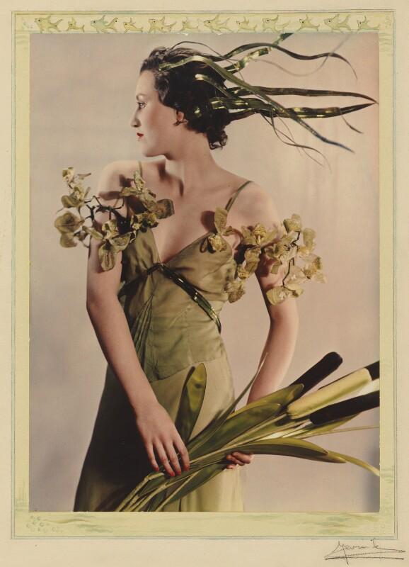 Lady Bridget Poulett as 'Arethusa', by Madame Yevonde, 1935 - NPG x17959 - © Yevonde Portrait Archive