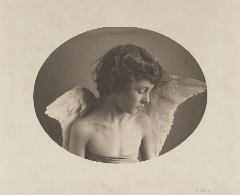 Leopold Hamilton Myers as 'The Compassionate Cherub', by Eveleen Myers (née Tennant), 1880s - NPG Ax36332 - © National Portrait Gallery, London