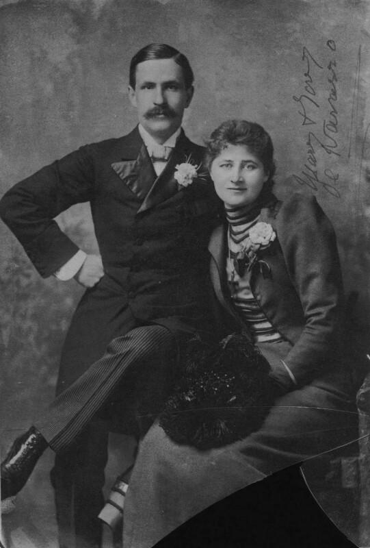 Antonio Fernando de Navarro; Mary Anderson (Mrs de Navarro), copy by Lafayette (Lafayette Ltd), 4 September 1928 (1890) - NPG x42729 - © National Portrait Gallery, London