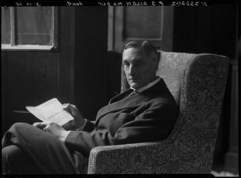 Percy Stafford Allen, by Lafayette (Lafayette Ltd), 3 October 1928 - NPG x42827 - © National Portrait Gallery, London