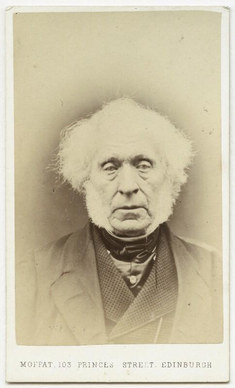 Sir David Brewster, by John Moffat, 1860s - NPG x4290 - © National Portrait Gallery, London