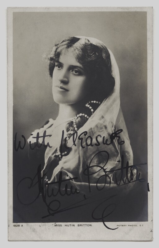 (Nellie) Hutin Britton, published by Rotary Photographic Co Ltd, circa 1905 - NPG x4307 - © National Portrait Gallery, London