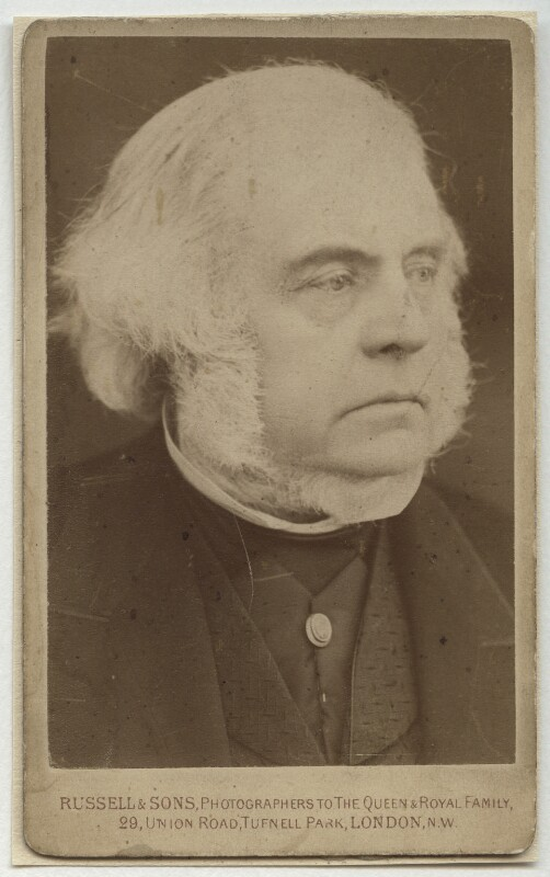 John Bright, by James Russell & Sons, early 1880s? - NPG x4309 - © National Portrait Gallery, London