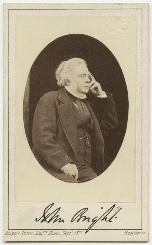 John Bright, by Rupert Potter, September 1871 - NPG x4310 - © National Portrait Gallery, London