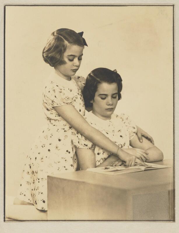 Nancy J. Adler; Barbara Adler Katzander (née Adler), by Dorothy Wilding, 19 June 1940 - NPG x4348 - © National Portrait Gallery, London