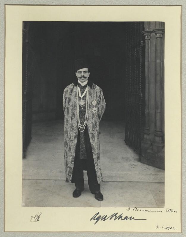 Aga Khan III (Mohammed Shah), by Benjamin Stone, July 1902 - NPG x44817 - © National Portrait Gallery, London