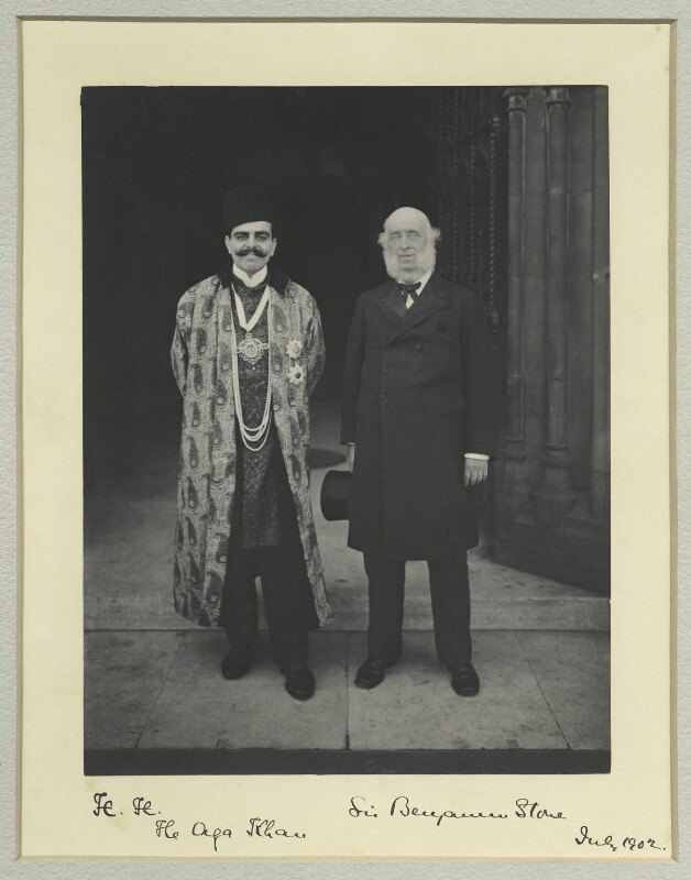 Aga Khan III (Mohammed Shah); Benjamin Stone, by Sir (John) Benjamin Stone, July 1902 - NPG x44819 - © National Portrait Gallery, London