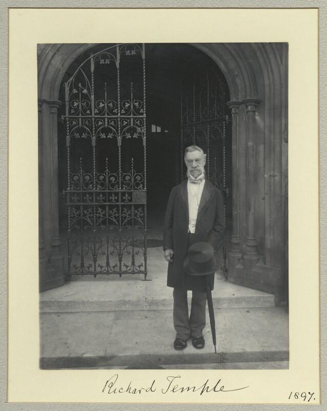 Sir Richard Temple, 1st Bt, by Sir (John) Benjamin Stone, 1897 - NPG x44985 - © National Portrait Gallery, London